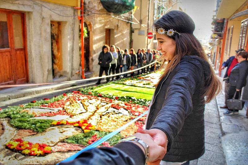 Infiorata Termitana, dalla Sicilia a Santiago de Compostela