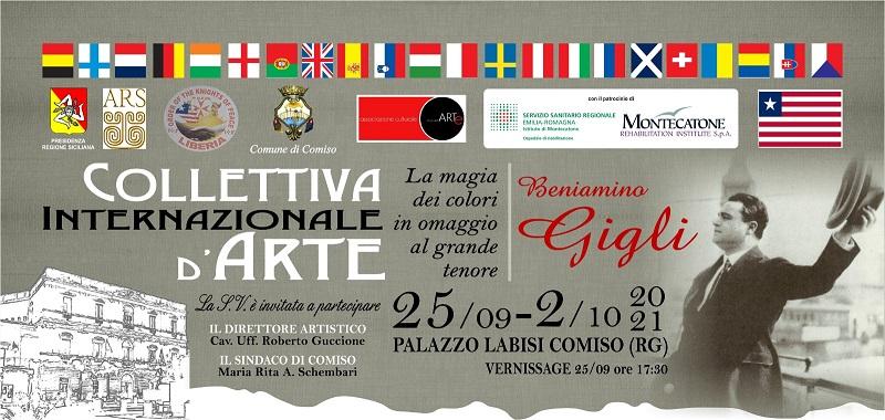 """A Comiso la Collettiva Internazionale d' Arte """"Beniamino Gigli"""" firmata Roberto Guccione"""